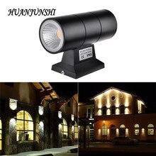 HUAN JUN SHI Outdoor Waterproof IP65 LED Wall Lamps 6W AC220V Aluminum Wall Lights Outside Courtyard Garden Porch Corridor Light