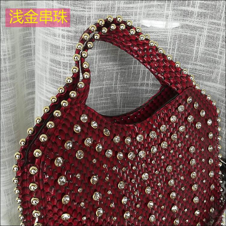 patente moda strass bolsa ombro feminino grande