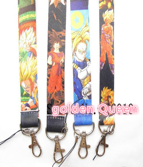 Wholesale 10Pcs Japanese Anime Dragon Ball Neck Straps Lanyards Mobile PhoneID CardKey Condole Belt Mixed M017 In Key Chains From Jewelry Accessories On