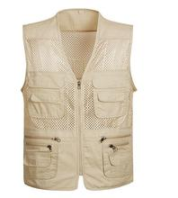 The New Recreational Fishing Vest Photography, Mountaineering Sports Vest, Fishing Vest Summer Use Camo Fishing Vest