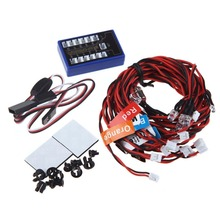 No Solder 12 LED Flashing Light Realistic Highlight Kit for 1 10 RC Car Truck