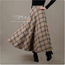 Boshow Ankle Length Vintage Grid Style Dress Multiple Sizes