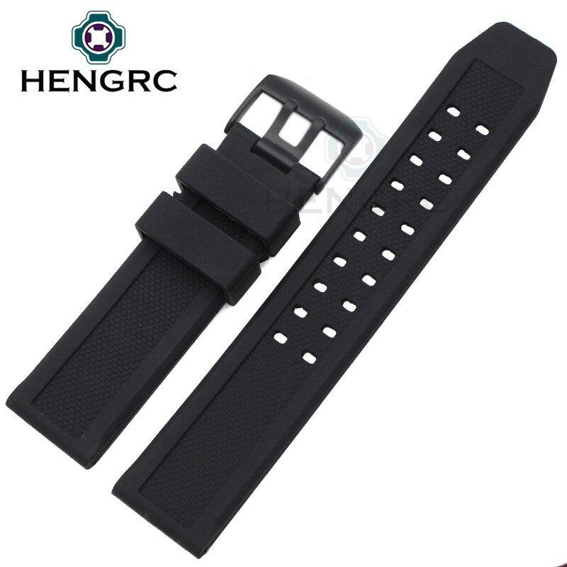 Correas de reloj de goma suave Hombres Negro 23mm Reloj de buceo - Accesorios para relojes - foto 2