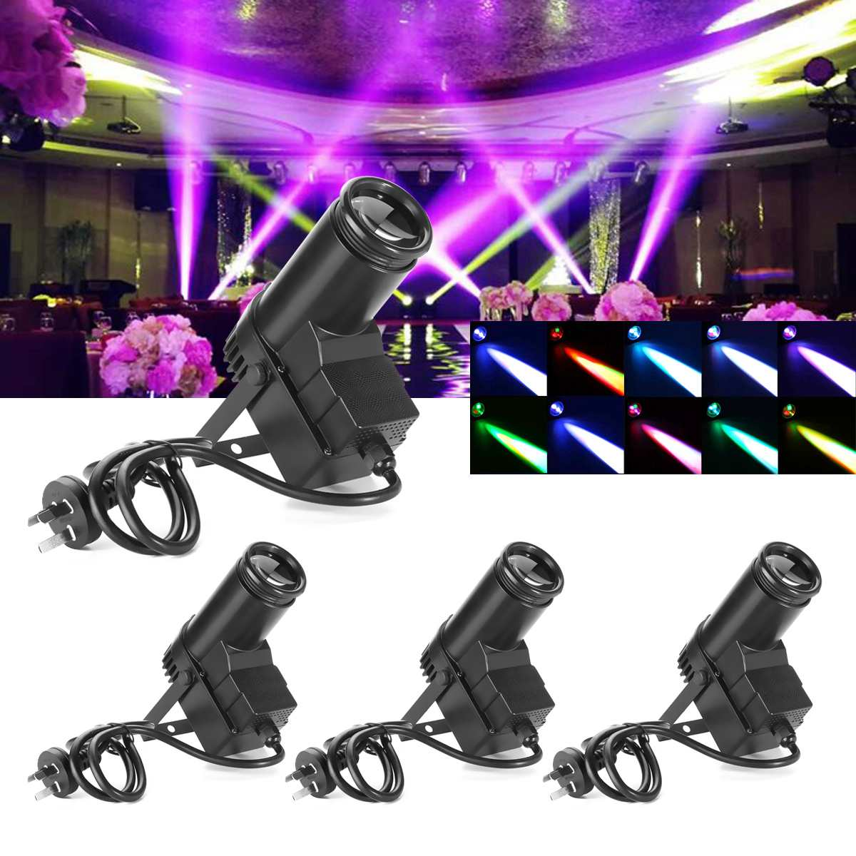 30W AC110-240V DMX RGBW LED Stage Light Pinspot Light Beam Spotlight 6CH Professional DISCO KTV DJ Stage Lighting Effect