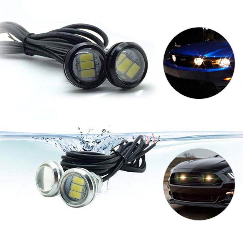 2pcs Car Drl Eagle Eye Led Daytime Running Light Motorcycle Screw Lamp Source Waterproof 5630smd C Excellent Quality