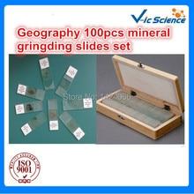 Пособия по географии 100 шт. минеральная gringding набор слайдов