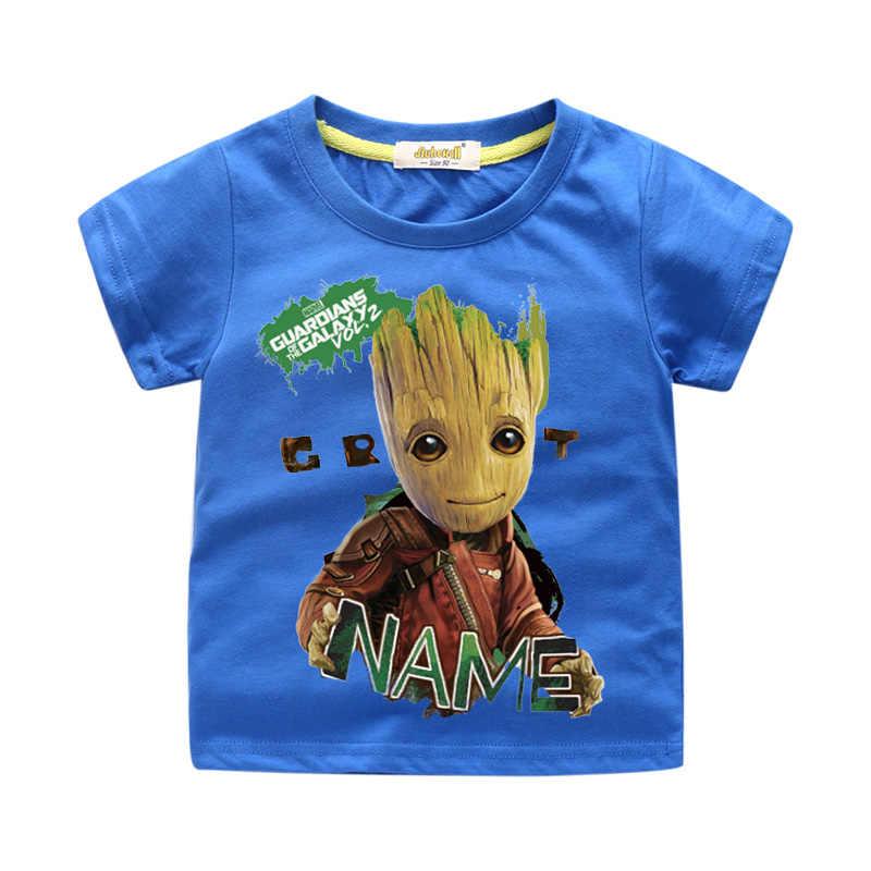 2ac7d4049 ... Niños verano corto dibujos animados bebé Groot camiseta ropa para niño  camiseta chica camisetas 3D I ...
