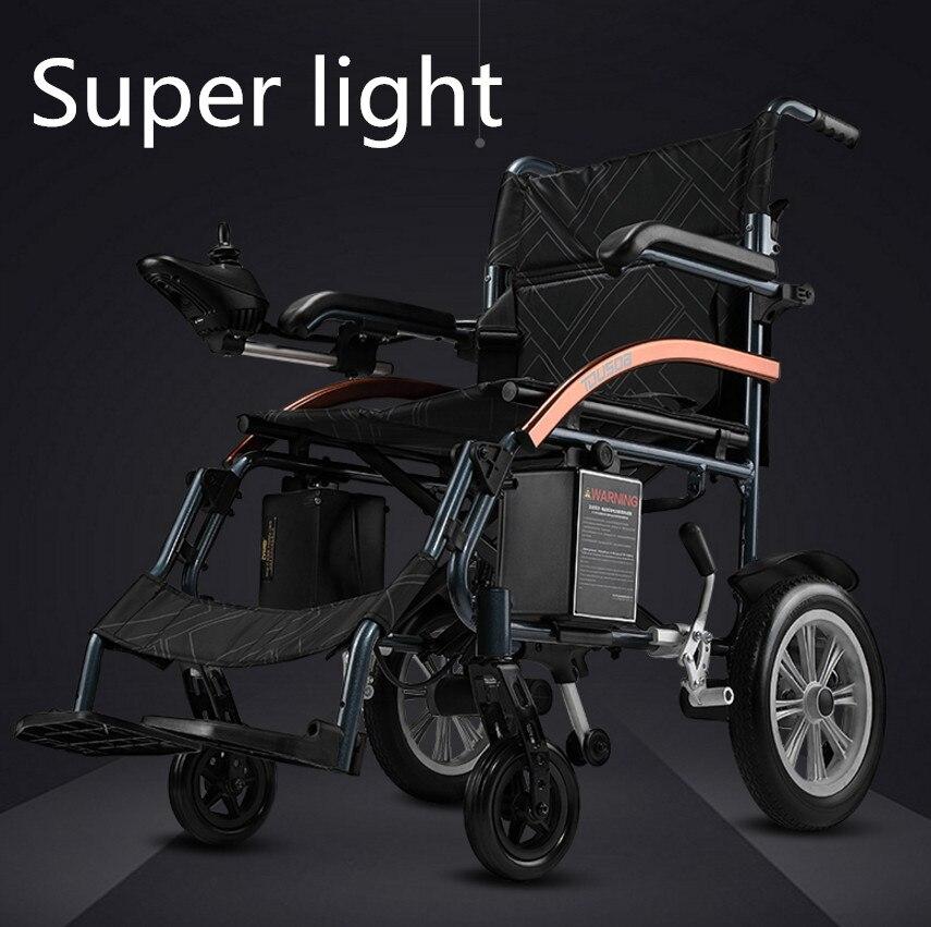 Dobrável Super leve para deficientes cadeiras de rodas elétrica com bateria