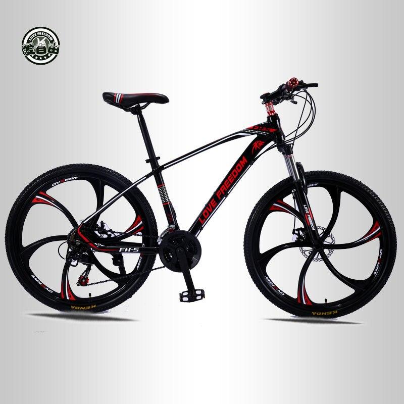 Amor liberdade 21 velocidade 26 polegada mountain bike bicicletas freios a disco duplo estudante bicicleta de estrada entrega gratuita