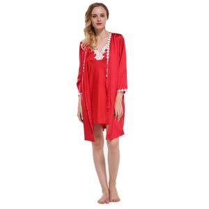 Image 4 - Fiklyc แบรนด์เซ็กซี่ผู้หญิง robe & ชุดลูกไม้ดอกไม้ซาตินผู้หญิงชุดนอน nightdress + เสื้อคลุมอาบน้ำเสื้อคลุมอาบน้ำร้อน