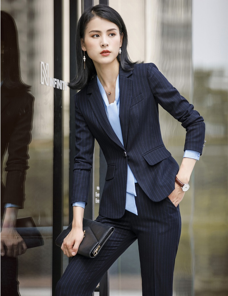 High Quality Fabric Formal Uniform Designs Business Suits With Blazers And Pants OL Styles Women Work Wear Pantsuits Pants Suits