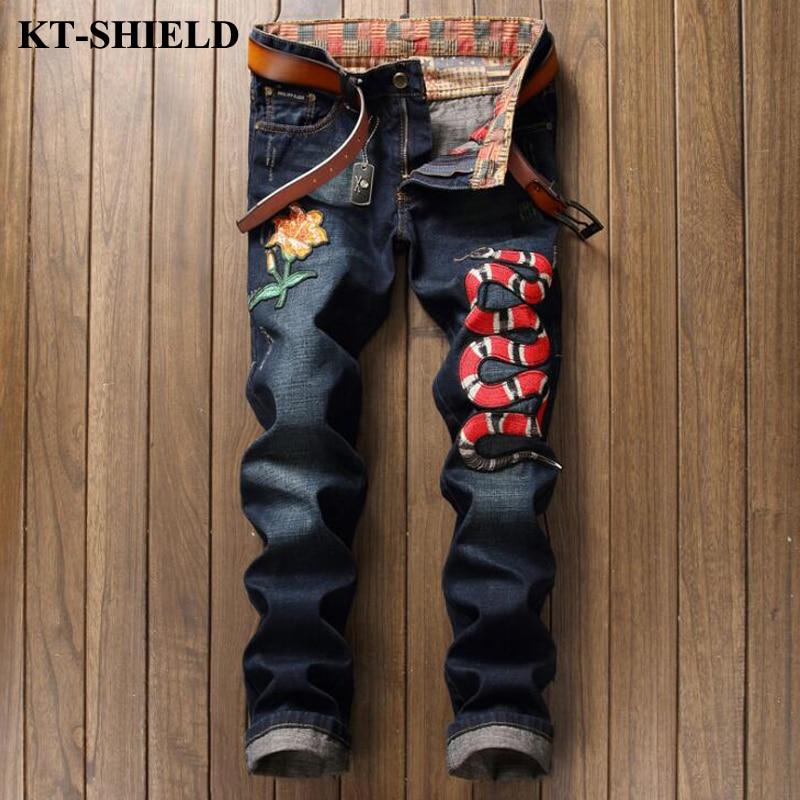 Famous Brand Jeans Men Biker Masculina Pantalones Vaqueros Hombre Slim Denim Casual Big Size Jeans Designer