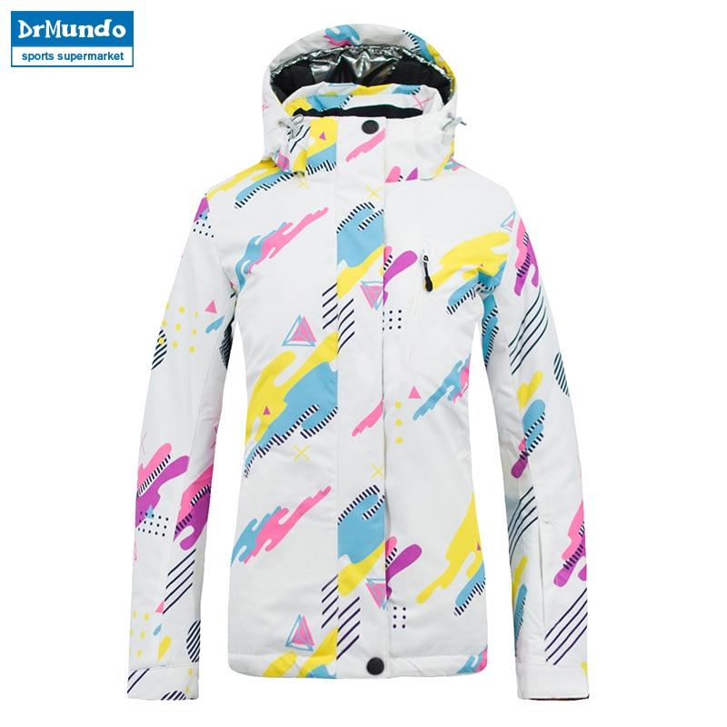 цена на 2018 New Winter Ski Jacket Women Waterproof Windproof Snowboard Coat Snow Female Warm Outdoor Mountain Skiing Jacket For Girls
