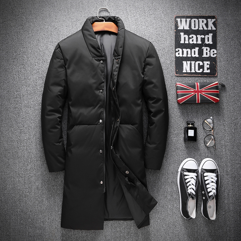 2018 New Winter Men's Fashion Casual   Down   Jackets Mens 80% White Duck   Down     Coats   Men Jackets High Quality Warm   Coats   for Men