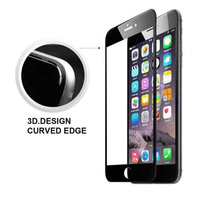 Borde Curvo de La Cubierta Completa 3D Protector Delantero de la Pantalla de Vidrio Templado para iphone 6 6 s plus 7 7 plus protector de pantalla protectora película