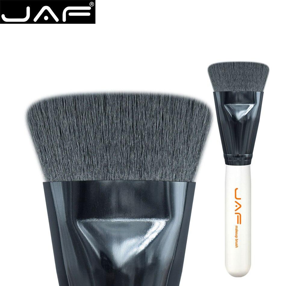 607d092a47ce8 Varejo 18 JAF SKYE Ponteira Escova de Contorno Liso Preto Cabelo Sintético  Pincel de Maquiagem
