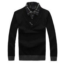 Neue 2016 Herbst oder Winter Mode Herren Polo Shirts Zwei Stück Langarm Kleid Kleidung Mann Slim Fit Kleidung Chemise Homme 42