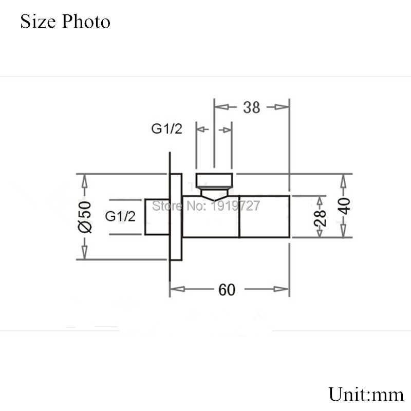 """現代ソリッドブラスダイバー1/2 """"x 1/2""""男性アングルストップバルブセラミック混合四分の一回転角バルブ浴室の蛇口アクセサリー"""