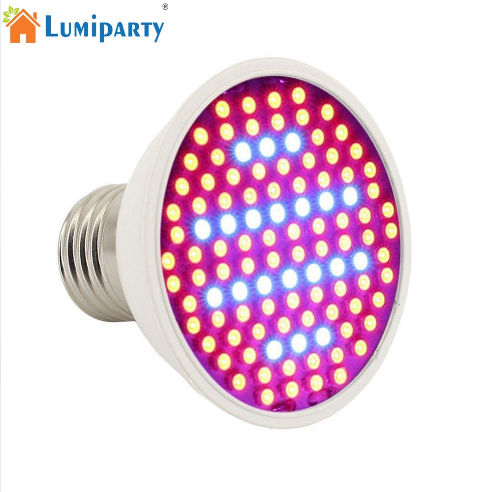 LumiParty E27 10W LED Plant Grow Light 106 LED Beads Full Spectrum Lamp for Indoor Hydroponic Plant Cultivation DIY Seedling