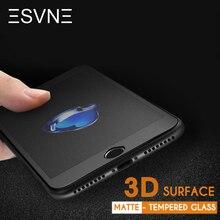Esvne 3D изогнутые матовые закаленное стекло для защитное стекло на айфон 6 стекло на айфон 7, Премиум фильм 9 H твердость 6S 7 plus анти-отпечатков пальцев Screen Protector