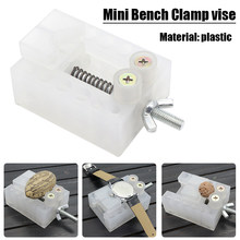 1pc White Jaw Bench Clamp Mini Drill Press Vice Micro Clip Flat Vise DIY Hand Tools 65*50*25 mm(China)