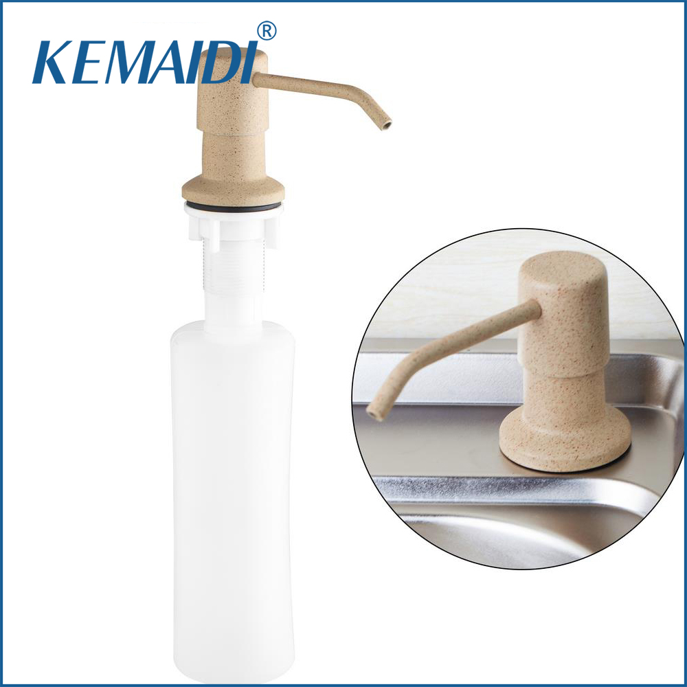 KEMAIDI Good Quality Deck Mounted Brand Kitchen Sink Soap Dispenser Replacement Sink Detergent Bottle Head ABS Bottle Deck Mount image