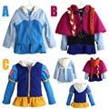 Otoño Capa de Las Muchachas de Manga Larga Snow Queen Elsa Ana Outwear Algodón del bebé Ropa Para Niños Trajes Chaquetas hoodies lindos de la capa