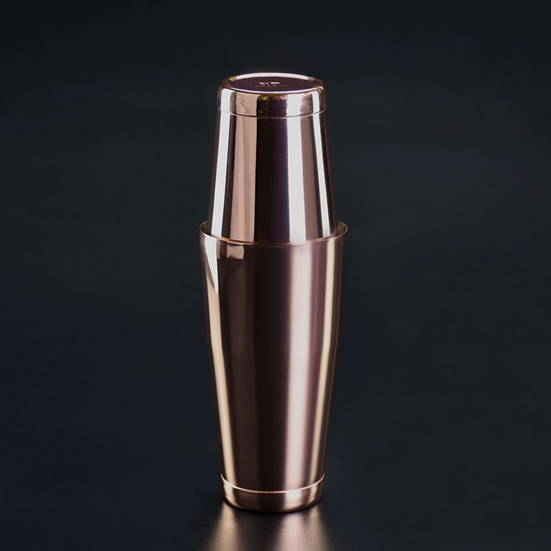 304 Stainless Steel Cocktail Shaker Copper Plated Shaker Boston American Style New Bar Shaker Cocktail Tools