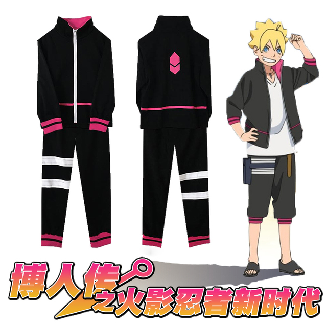 Anime Naruto Uzumaki Boruto Cosplay Costume Full Set ...