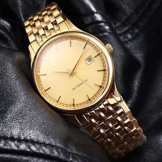 Мужские часы лучший бренд взлетно-посадочной полосы роскошный Европейский Дизайн автоматические механические часы S0951