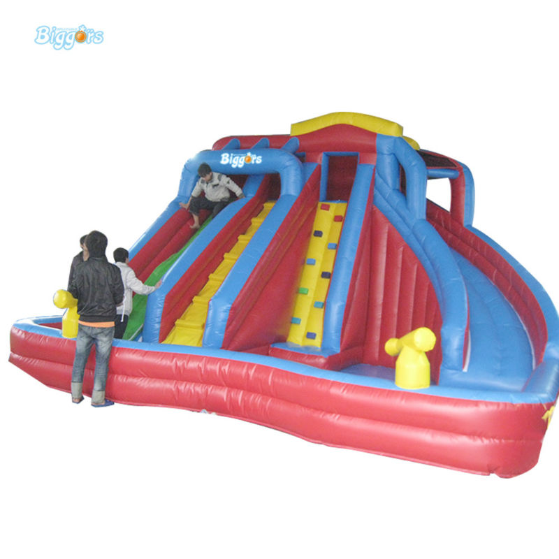 Inflatable Biggors Wholesale Price Inflatable Water Slide With Pool For Promotion цена