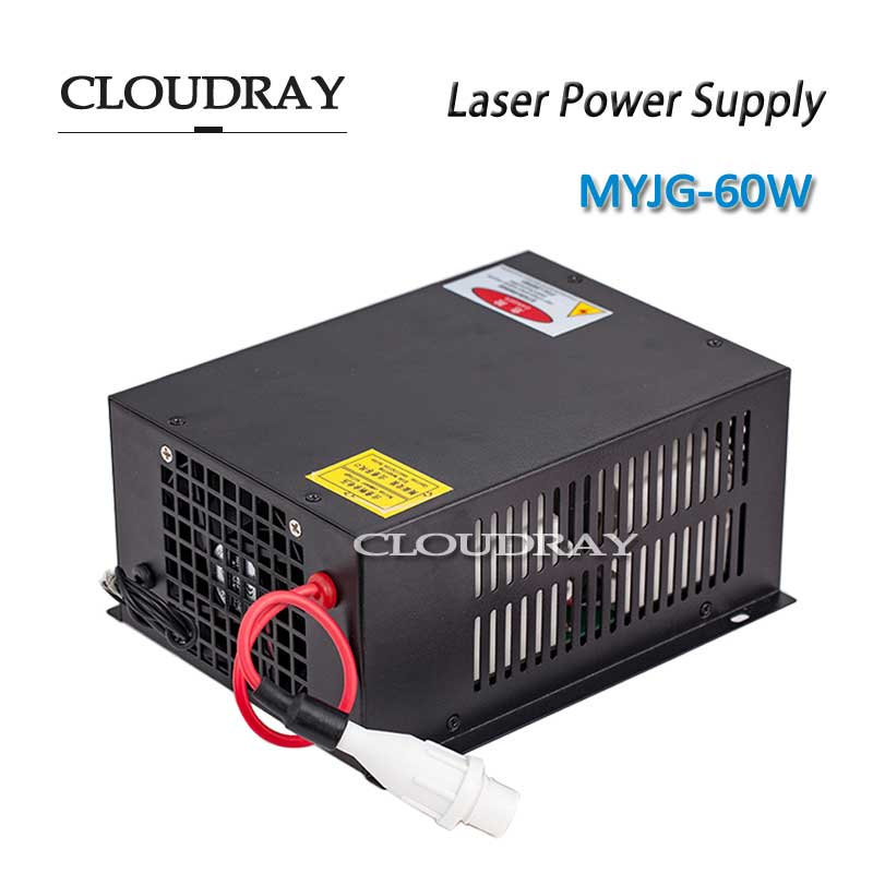 Cloudray 60W Co2 Laser Power Supply 47-440HZ AC220V/AC110V For CO2 Laser Engraving Cutting Machine CE Certificate MYJG-60W