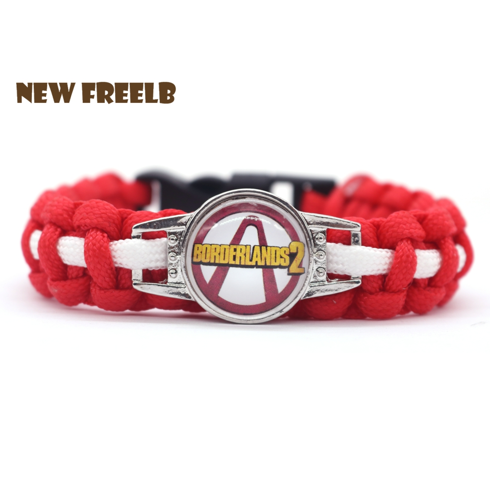 FPS Game Borderlands 3 Logo Paracord Bracelets Glass Red Color Jewelry Outdoor Travel Hiking Great Gift