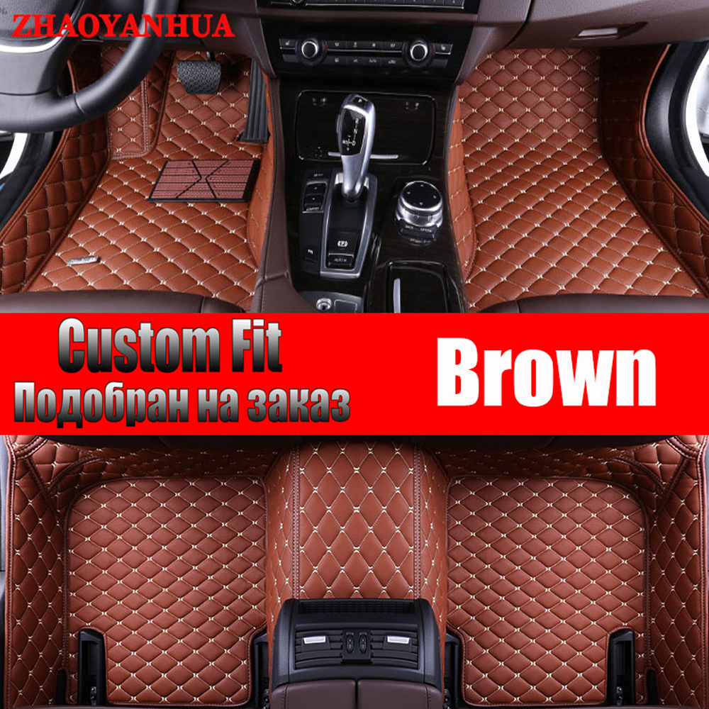 цены ZHAOYANHUA Car floor mats for Volkswagen Beetle CC Eos Golf Jetta Tiguan Touareg sharan 5D car-styling carpet floor liner