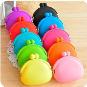 12*10.5cm free shipping girls women Lovely big Silicone Coin Purses Wallet Rubber Wallets Bag wholesale 400pcs/lot