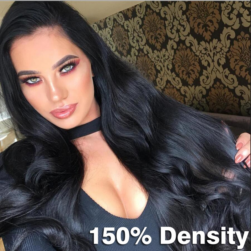 8A Full Lace Human Hair Wigs for Black Women Indian Virgin Hair Loose Wave Lace Front Wigs Body Wave Free Shipping