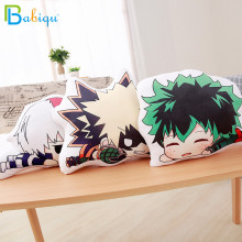 1pc 35cm Lovely Anime Bakugou Katsuki Todoroki Shoto Midoriya Izuku Bolster Plush Boku No Hero Academia Pillow