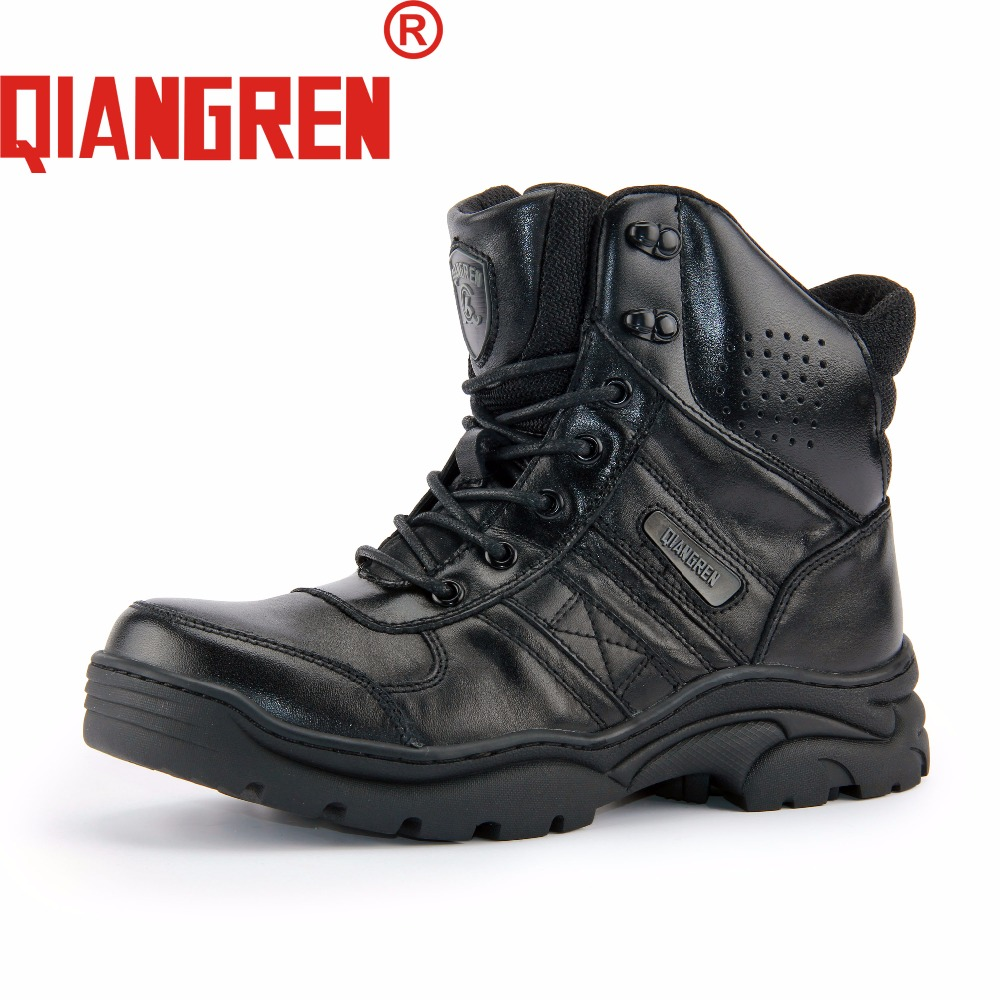 QIANGREN High Grade Quality Military Factory Direct Men's Autumn Genuine Leather Mesh Rubber Tactical Boots Male Outdoors Botas a low cost factory direct high grade high cycle life lithium polymer battery 801745