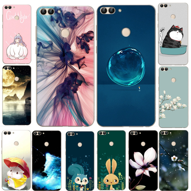 pour huawei p smart case motif tpu de couverture de silicone de bande dessin e coque pour huawei. Black Bedroom Furniture Sets. Home Design Ideas