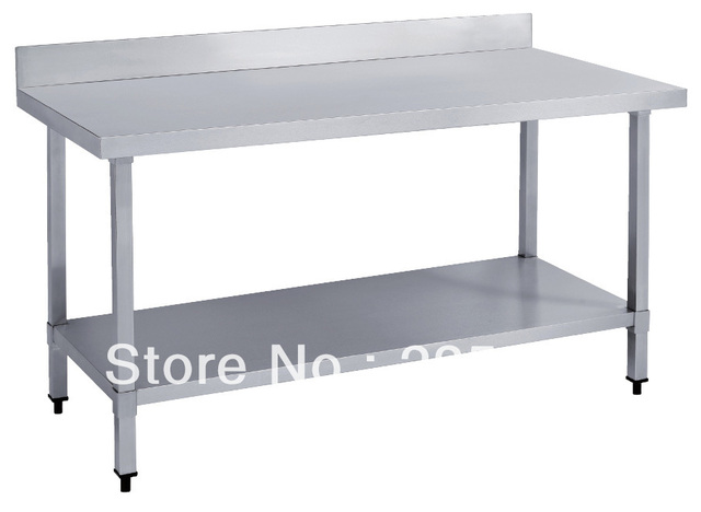 Kitchen Work Table With Storage Stainless steel work table with splash back for commercial kitchen stainless steel work table with splash back for commercial kitchen hotel bakery storage workwithnaturefo