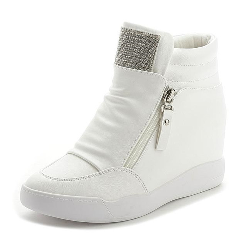 2017 Free Shipping Hidden Wedge Heels Fashion Women s Elevator Shoes Casual Shoes For Women wedge