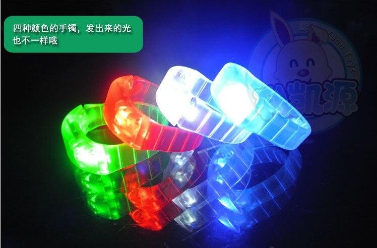 Led bracelet flashing bracelet well for christmas Light-Up Toys party bar 100pcs/lot