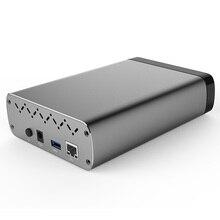 Boîtier de disque dur réseau Portable Q3C, usb 3.0 vers SATA, pour disque dur SSD de 2.5/3.5 pouces, couleur noire