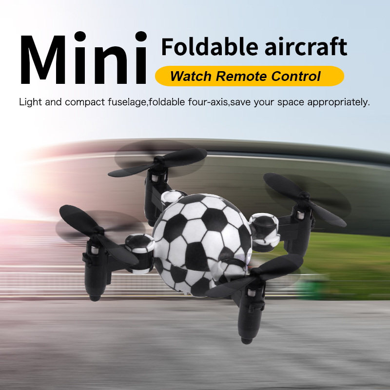 Zhorya RC Simulator 2.4G Mini Drone No Camera Foldable Watch Remote Control Aircraft RC Quadcopter Flying Toys Gifts for Kids