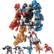 Transformation Defender of the Universe Voltroned Building Blocks Sets Kits Bricks Movie Kids Marvel Compatible 21311 цена