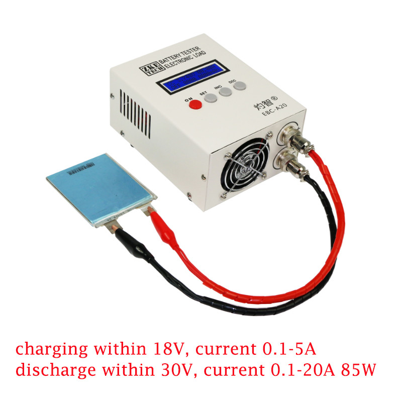 EBC A20 Battery Capacity Tester Lithium Battery Iron Lithium Ternary Charge and Discharge Instrument 20A Electronic Load