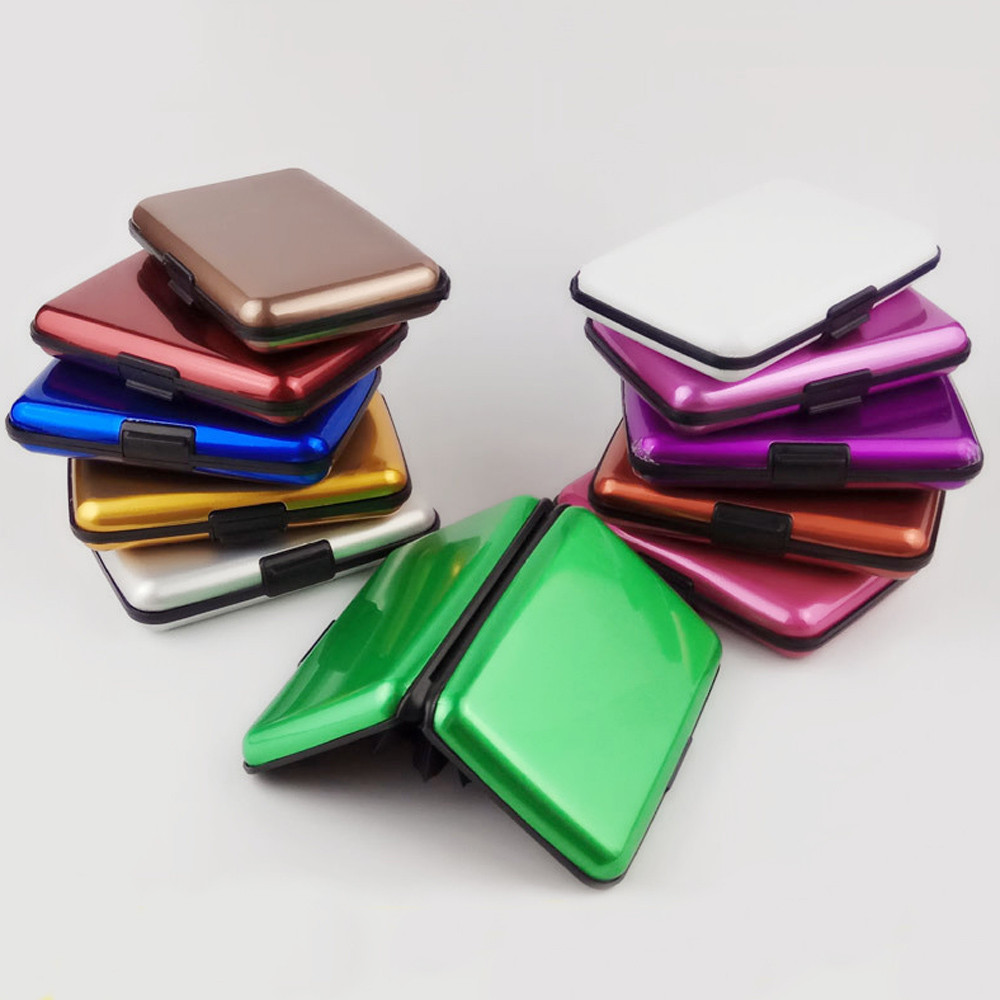 Women Men Business Name Superior Quality ID Credit Card Candy color Protector Leather Wallet Card Holder Package Box A#dropship