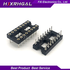 10pcs Round Hole 16 Pins 2.54MM DIP 2.54 DIP16 IC Sockets Adaptor Solder Type 16 PIN IC Connector new Free shipping