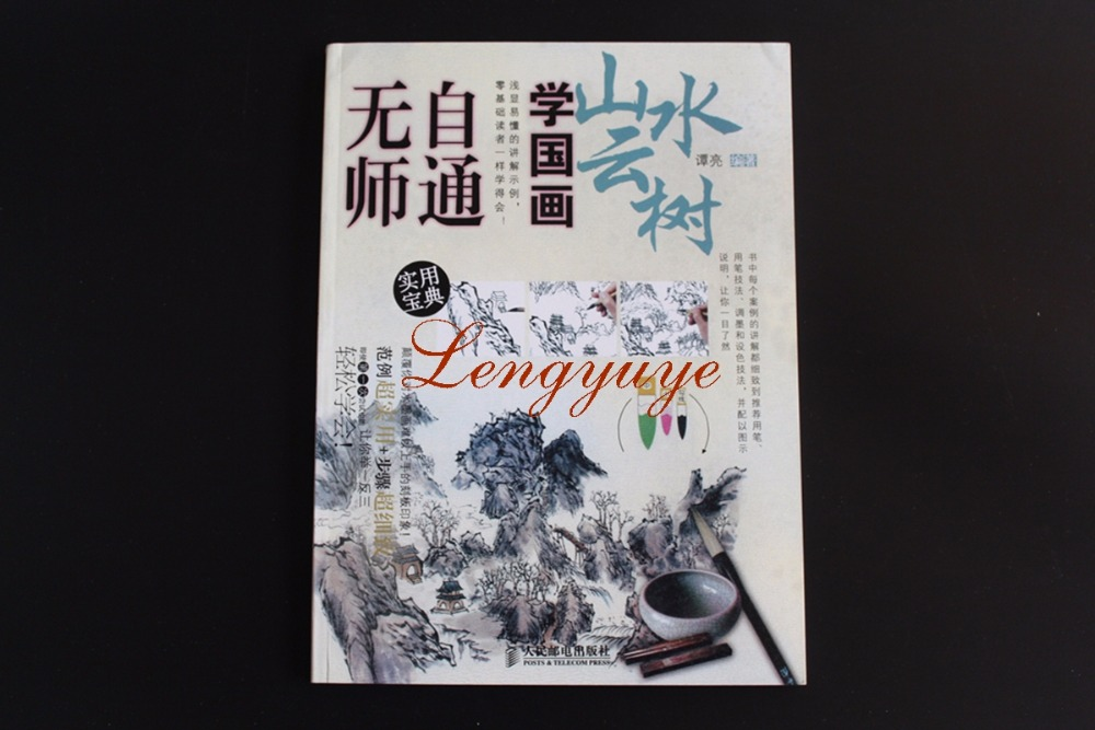 Chinese Brush Ink Art Painting Sumi-e Technique Draw landscape bird Book Tool chinese painting brush ink art sumi e album badashanren landscape book
