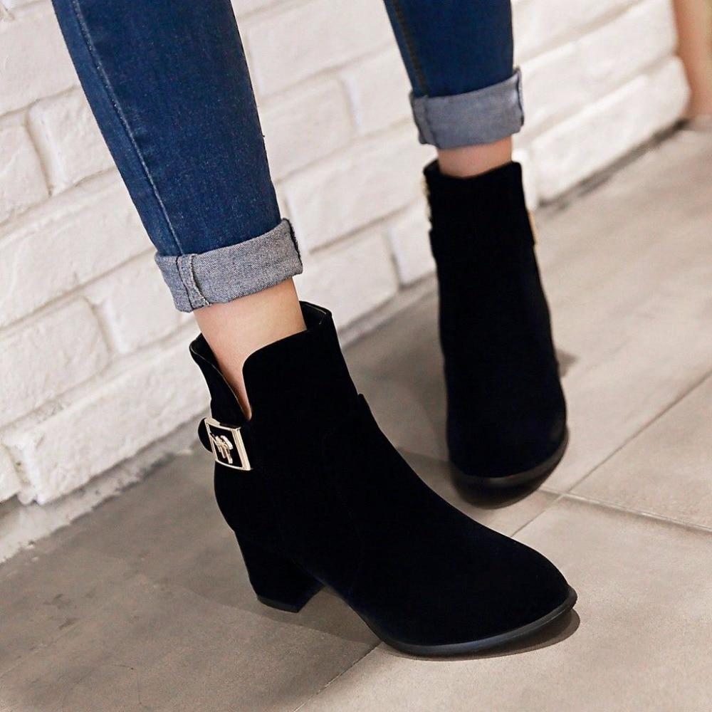 e88ecc8601b Femmes -bout-Rond-Fermeture-clair-Carr-Bas-Talon-Hiver-Neige-Bottes-Avec-M-tal-Chaussures- Femme.jpg